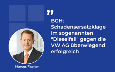 """BGH: Schadensersatzklage im sogenannten """"Dieselfall"""" gegen die VW AG überwiegend erfolgreich"""